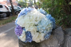 plavi bidermajer za venčanja